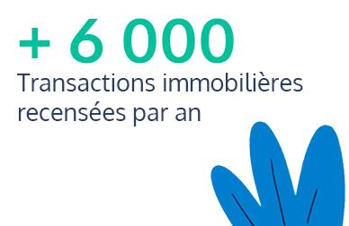 plus de 6000 transactions immobilières recensées par an