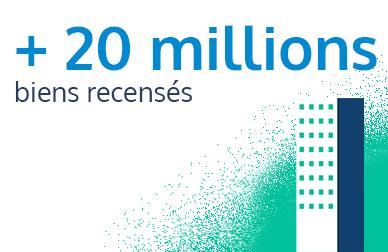 Plus de 20 millions de biens recensés