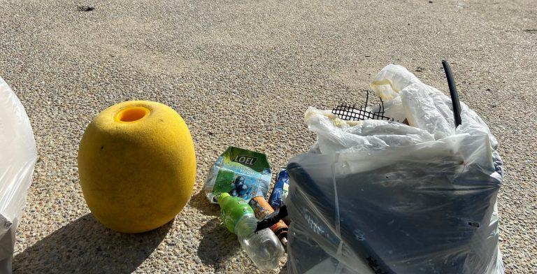 Les déchets ramassés sur la plage par EXPLORE