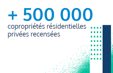 500000 copropriétés résidentielles privées recensées par EXPLORE