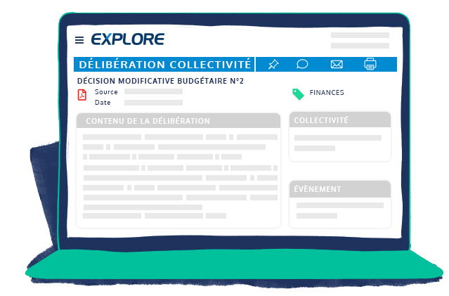 Espace client EXPLORE délibérations des collectivités