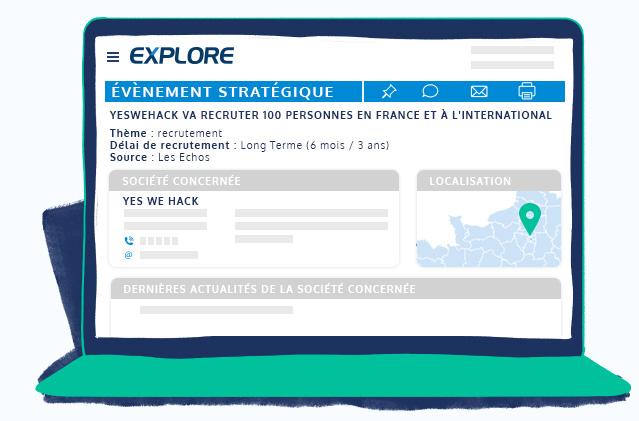 Espace client EXPLORE évènement stratégique