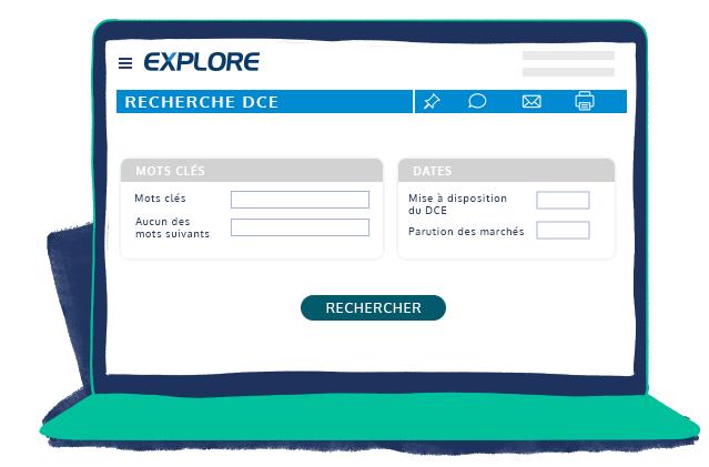 Moteur de recherche DCE espace client EXPLORE